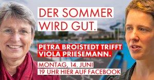 Der Sommer wird gut. Petra Broistedt trifft Viola Priesemann.
